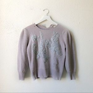 Vintage Pipes Boss   Cashmere Embroidered Sweater